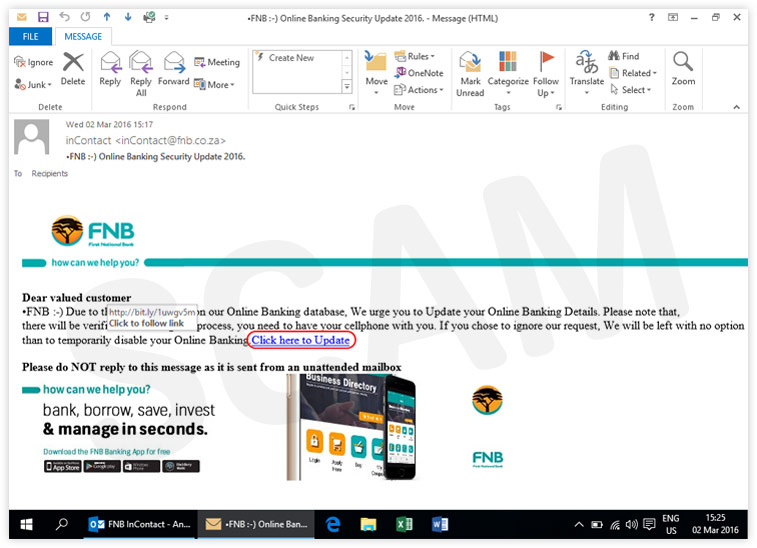 Current scams fraud prevention security fnb it must display httpsfnb reheart Gallery